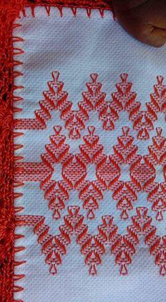 Swedish Weaving Pattera n Swedish Embroidery, Towel Embroidery, Blackwork Embroidery, Embroidery On Clothes, Ribbon Embroidery, Cross Stitch Embroidery, Embroidery Patterns, Cross Stitch Patterns, Cross Stitches