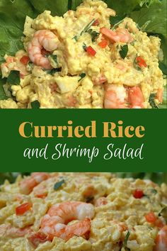 curried rice and shrimp salad