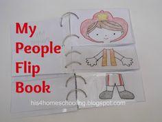 My People Flip Book {H is for Homeschooling}