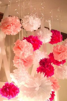 Baby Girl Baby Shower Decor...hang With Curling Ribbon If I Cant Find