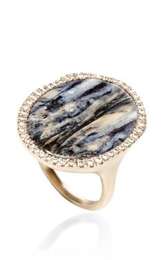 One Of A Kind Vivid Blue Oval Ring by Monique Péan for Preorder on Moda Operandi. Hands off this ones mine.