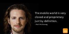 #Wordpress Chef Entwickler Matt Mullenweg über #Mobile