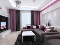 Modern living room designs can be very different. The modern living room designs personify your sense of comfort and coziness, giving pleas. Living Room Tv, Living Room Modern, Living Room Interior, Living Room Designs, Small Living, Cozy Living, Apartment Living, Living Room Turquoise, Interior Design