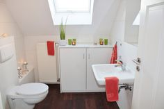 Simple small white bathroom