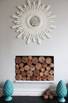 Swoon Worthy: I So Wood (Part II): Decorative Logs (At Last!)