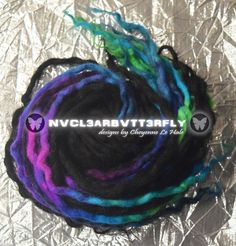 "Icelandic Wool Dreads - ""Neon Landscape"" Hair Extensions Black Rainbow Galaxy Dreadlocks (Ready to Ship) Curly Wavy Locs Wool Dreads, Dreadlocks, Rainbow Galaxy, Neon Hair, Dread Beads, Synthetic Hair Extensions, Mild Soap, Iceland, Fiber Art"