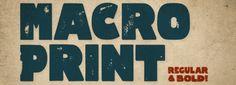 Macro Print font download