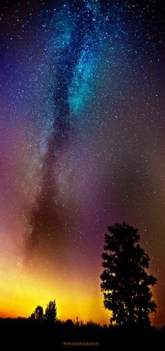 milky way, sunset