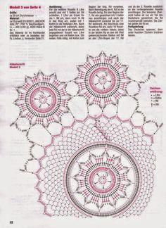Todo crochet: Carpeta con diseño de flores tejida con ganchillo