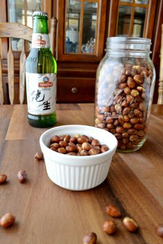 Homestyle Wok Roasted Peanuts, it's a very traditional way to roasted peanuts in China. crunchy and very addictive, pairs great with old beer.