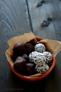 Sund konfekt: Chokolade dadelkugler med appelsin