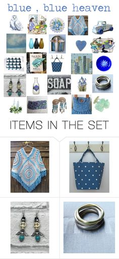 """Blue blue heaven"" by belinda-evans ❤ liked on Polyvore featuring art"