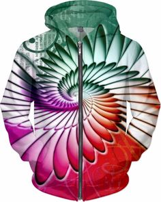NBK Tokyo Angel Trance Custom Rave Rebel Revolution Style Zip Hoodie by Willy Badu.