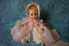 Vintage Madame Alexander Little Genius in beautiful pink organdy coat
