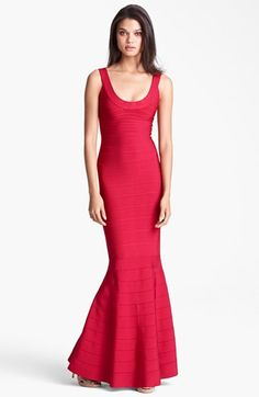 Herve Leger Mermaid Bandage Gown available at #Nordstrom. I NEED THIS DRESS AS WELL