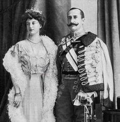 Húsar de la Princesa 1907. Infante Carlos de Borbón y Princesa Louise de Francia