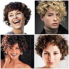 Verschillende kort krul haar