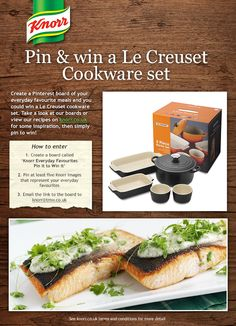 Pin & win a Le Creuset Cookware set! Simply create a board called 'Knorr Everyday Favourites Pin it to Win it', pin at least five Knorr images from our boards or Knorr.co.uk that represent your everyday favourites and then email the link to the board to mailto:knorr@tmw..... Le Creuset Cookware, Cookware Set, Eat Me Drink Me, Food And Drink, Dessert Ideas, Amazing Places, Yum Yum, Food To Make, Fun Stuff