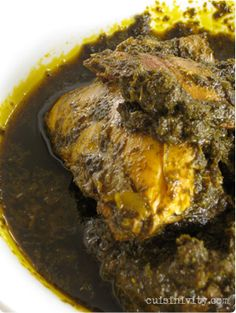 Casava Leaf Stew with Chicken. One of my favorite Liberian dishes:    4 bunches of cassava leaf   hot paper (as mush as you like)   1 large onion (chopped)   ½ cup or 1 dried fish   1 pound of fresh chicken or beef   1 tsp salt   1 tsp pepper   2 cups of Palm oil   Chicken bouillon cubes (optional). Serve over rice.