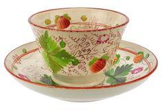 Antique English Davenport Cup & Saucer