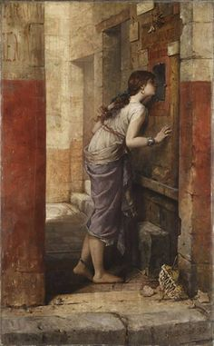 IX.7.19 Pompeii. 1885 painting of entrance doorway shortly after excavation. Painting by Louis Hector Leroux