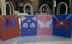 Sailor Moon goody bags by Ana Calderón-Garcia Sailor Moon Cakes, Sailor Moon Birthday, Sailor Moon Party, Diy Birthday, Birthday Parties, Saylor Moon, Festa Party, Party Bags, House Party