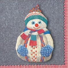 1000 images about christmas paper plates and paper for Snowman pocket tissues