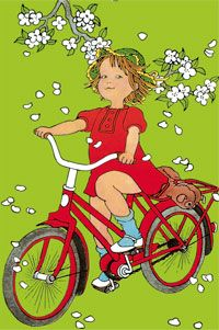 on se ballade Childhood Characters, Book Characters, Children's Book Illustration, Character Illustration, Elsa Beskow, Bike Drawing, Lotta, Gif Animé, Illustrations And Posters