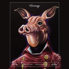 """""""Bacon, Acrylics #nuvangocover @nuvango #painting #illustration #graphicdesign #sculpture #lowbrow #hifructose #phineartdesigns #bacon #acrylics"""""""