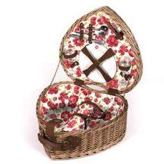 Laura Ashley Heart Shaped Picnic Basket
