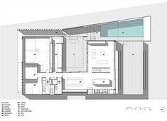 GF - The Narrabeen House by Choi Ropiha Fighera in Australia Minimalist Architecture, Architecture Plan, Home Office Design, Modern House Design, Home Design Magazines, Suburban House, Ground Floor Plan, House Floor Plans, How To Plan
