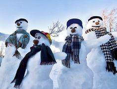snowman family by Henri Bonell,