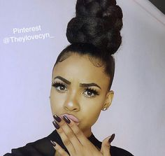 Love this? Follow me || @Theylovecyn_ Classy Hairstyles, Black Girls Hairstyles, Ponytail Hairstyles, Weave Hairstyles, Pretty Hairstyles, Curly Hair Styles, Natural Hair Styles, Edges Hair, Goddess Hairstyles