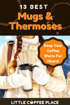 If you find your coffee getting cold before you finish your cup, you might need a better coffee mug--or even a thermos! Here are our top insulated coffee mugs and thermoses. #littlecoffeeplace #coffeemug #thermos Coffee Thermos, Little's Coffee, Best Coffee Mugs, Coffee Lover Gifts, Great Coffee, Coffee Lovers, Coffee Beans, Coffee Shop, Coffee Cups