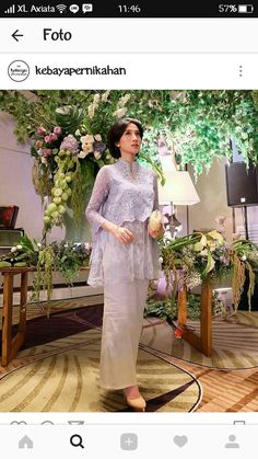 Mrs looks stunning in this semi custom DAHLIA. Even more perfect in the sky blue color and a glowing complexion✨ Kebaya Lace, Kebaya Hijab, Kebaya Brokat, Batik Kebaya, Dress Brokat, Kebaya Dress, Kebaya Muslim, Muslim Dress, Batik Dress