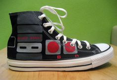 NES Converse shoe... this would go perfect with my NES Controller bag! If I had one.....