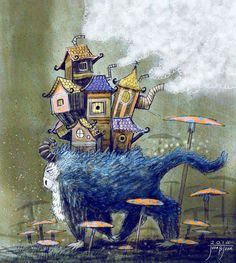 They is a place where big animals are used to move houses around the world :)