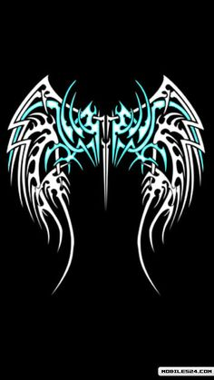 Tribal Tattoos Of Angel Wings Free 360x640 Wallpaper download ...