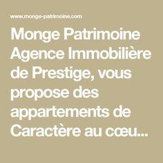 Monge Patrimoine Agence Immobilière de Prestige, vous propose des appartements de Caractère au cœur de Paris et un service de qualité pour vos projets de vente ou d'achat…