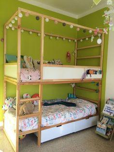 51 Cool Ikea Kura Beds Ideas For Your Kids Rooms – kura bed hack Kura Cama Ikea, Mydal Ikea, Girl Room, Girls Bedroom, Baby Zimmer Ikea, Kura Bed Hack, Ikea Kura Hack, Ikea Hacks, Ikea Loft Bed Hack