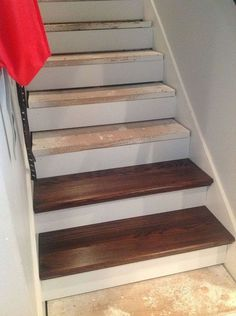 From Carpet to Wood Stairs Redo - Cheater Version. DIY From Carpet to Beautiful Wood Stairs - Cheater Version. Very Low Cost low Effort High Impact Home Update!