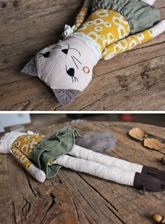 CAT RAG DOLL Handmade Children Gift Cat Plush от filomeluna