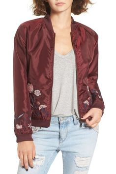Embroidered Bomber by Fire on @nordstrom_rack
