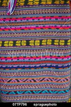 Detail of traditional ikat weave,  Oecussi-Ambeno, East Timor stock photo