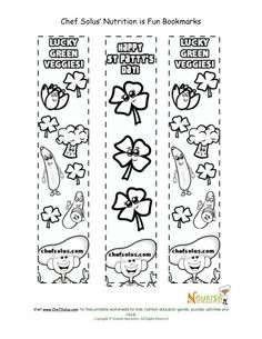 Holiday 4 Bookmark St Patrick's Day Coloring Page #nutritioneducationprintables