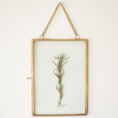 heirloom brass hanging frame