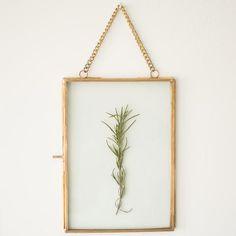 heirloom brass hanging frame