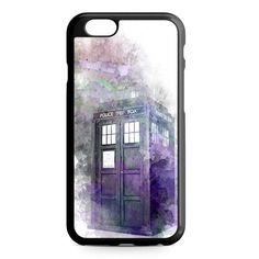 Abstract Art Tardis Police Box iPhone 4/4S/5/5S/5C/6/6S/6+/6S+ Heavy Duty Case