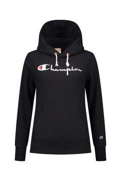 612823da8393 Champion Hooded Sweatshirt in Black - 110975 KK001 NBK