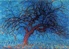 Piet Mondrian - Avond (noite): A árvore vermelha